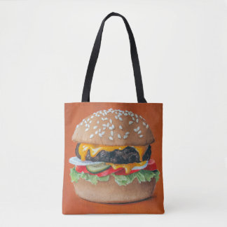 Hamburger Illustration bags
