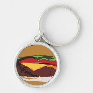Hamburger Key Chain