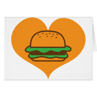 Hamburger lover card