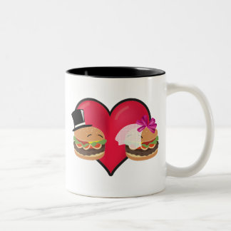 Hamburger Marriage -- ASL play on words Two-Tone Mug