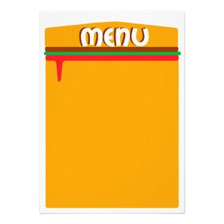 hamburger menu page personalized invite