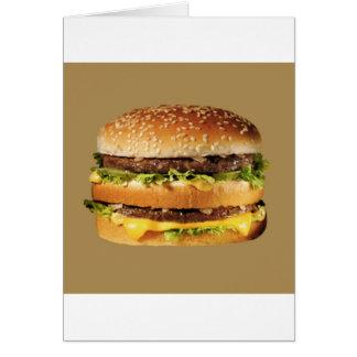 hamburger on tan greeting card