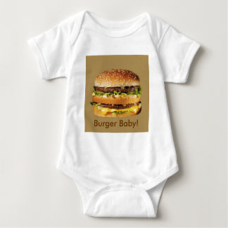 hamburger on tan t-shirt