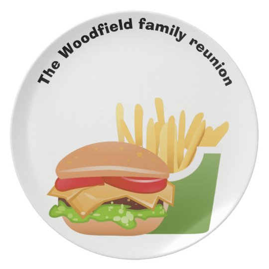 Hamburger Picnic Personalised family reunion Plate