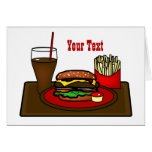 Hamburger Platter Greeting Card