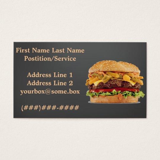 Hamburger Shop Business Card