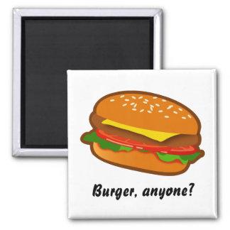 Hamburger Square Magnet