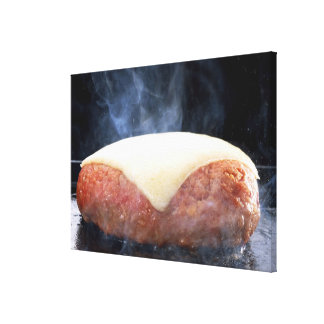 Hamburger Steak Canvas Print