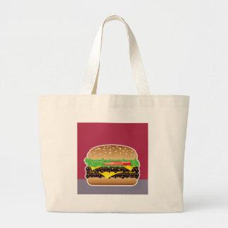Hamburger Vector Art Jumbo Tote Bag