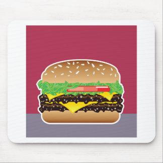 Hamburger Vector Art Mouse Pad