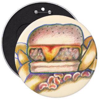 hamburger waiter waitress bling pin