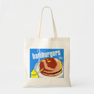 Hamburgers Cheeseburgers Vintage Kitsch Ad Bags