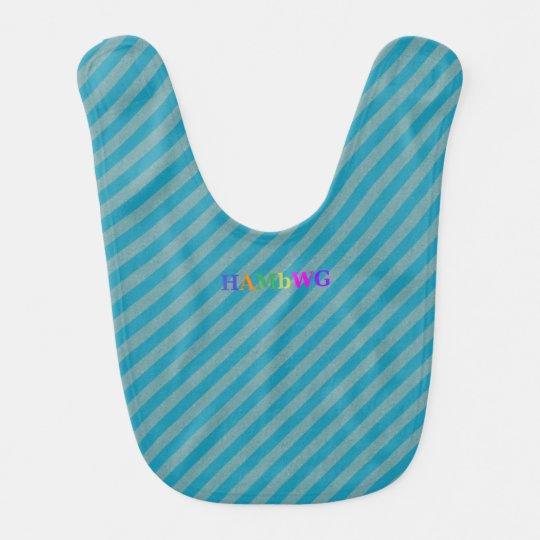 HAMbWG - Baby Bib - Aqua Stripe
