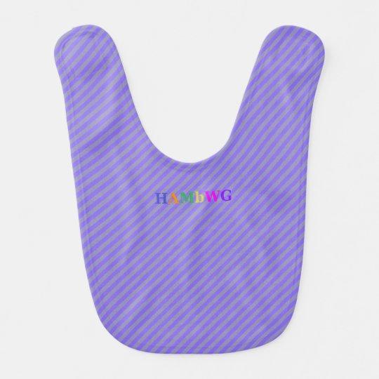 HAMbWG - Baby Bib - Purple Stripe