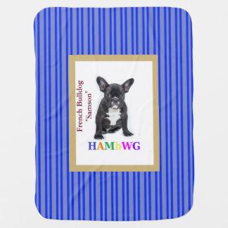 """HAMbWG Baby Blanket - French Bulldog """"Samson"""""""