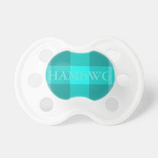 HAMbWG - BooginHead® Pacifier - Aqua Plaid