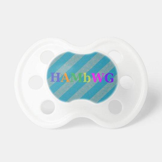 HAMbWG - BooginHead® Pacifier -  Aqua Stripe