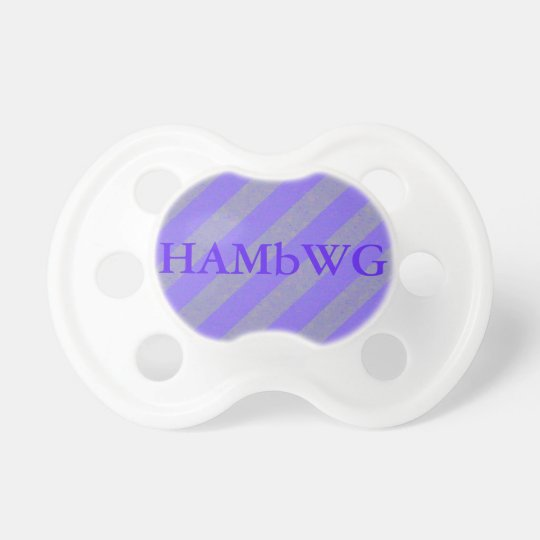 HAMbWG - BooginHead® Pacifier -Light Purple Stripe