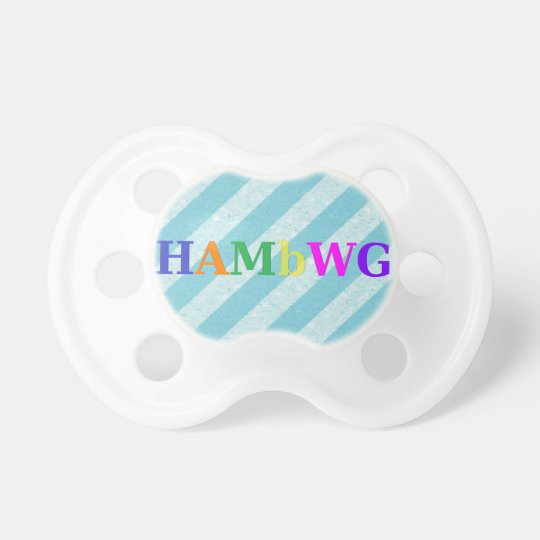 HAMbWG - BooginHead® Pacifier -  Pale Blue  Stripe