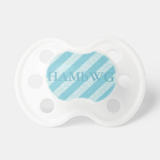 HAMbWG - BooginHead® Pacifier -  Pale Blue  Stripe