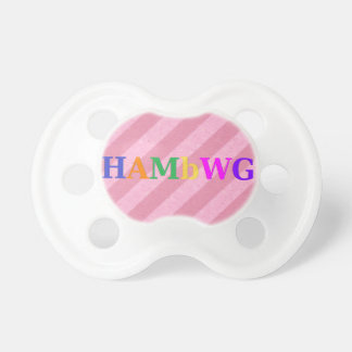 HAMbWG - BooginHead® Pacifier - Pale Pink Stripe