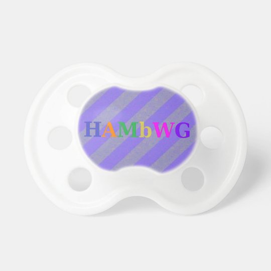 HAMbWG - BooginHead® Pacifier - Purple Stripe