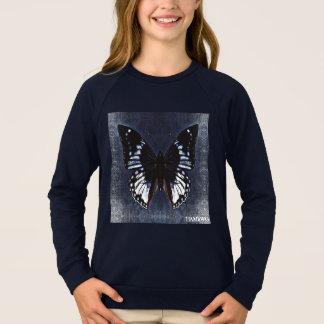 HAMbWG - Children's  T Shirt - Navy Butterfly