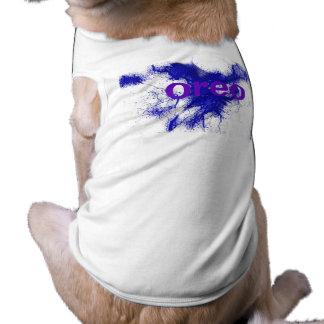 HAMbWG - Dog T-Shirts - Blue Ink
