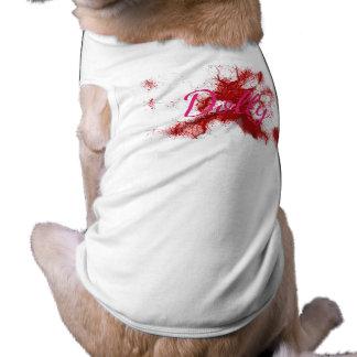 HAMbWG - Dog T-Shirts - Red Ink