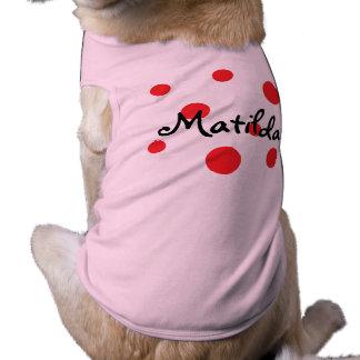 HAMbWG - Dog T-Shirts - Red Polka Dots