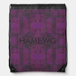 HAMbWG Drawstring Backpack -Purple/Charcoal