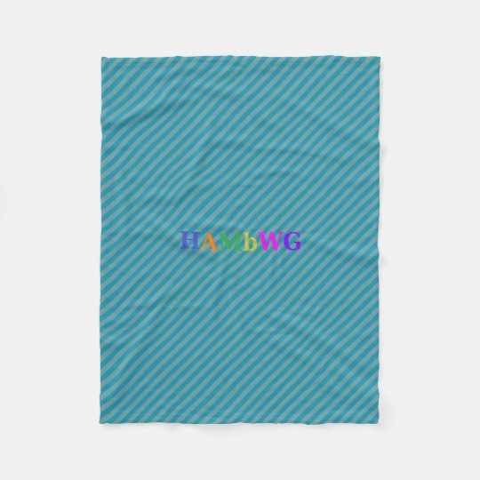 HAMbWG Fleece Blanket - Aqua Stripe