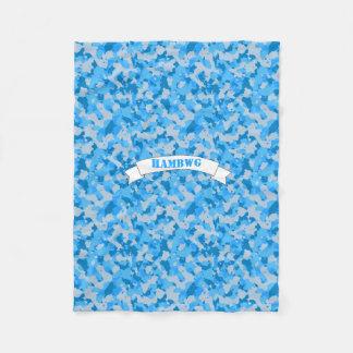 HAMbWG - Fleece Blanket - Blue Camouflage