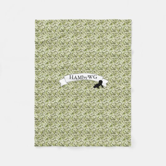 HAMbWG - Fleece Blanket - Green Camouflage