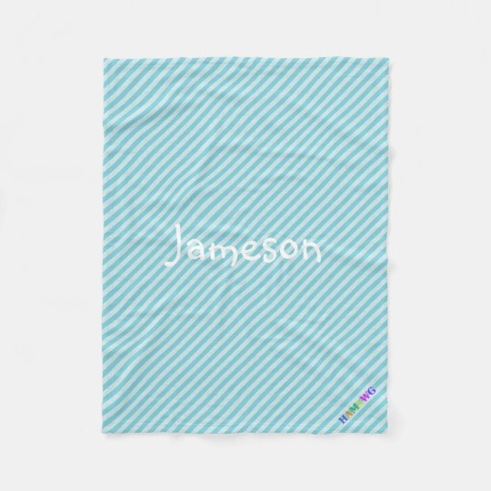 HAMbWG Fleece Blanket -Light Blue Stripe
