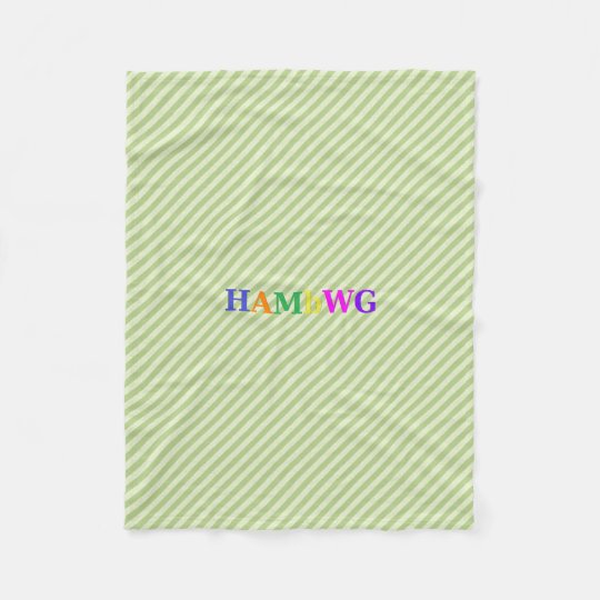 HAMbWG Fleece Blanket - Lime Stripe