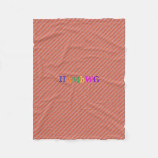 HAMbWG Fleece Blanket - Orangy Stripe