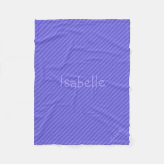 HAMbWG Fleece Blanket - Purple Stripe