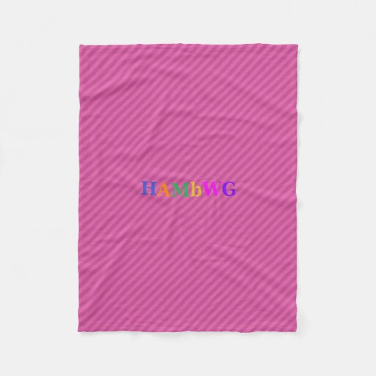 HAMbWG Fleece Blanket - Raspberry Stripe