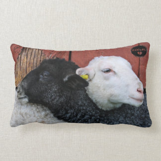 HAMbWG - Lumbar Pillow - Black Sheep White Sheep