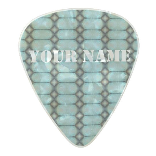 HAMbWG Med. Gauge  .80mm Guitar Picks Deco Aqua