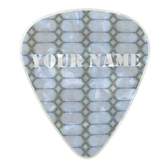 HAMbWG Med. Gauge  .80mm Guitar Picks Deco Blue Pearl Celluloid Guitar Pick