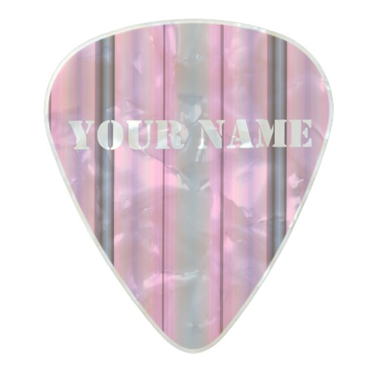HAMbWG Med. Gauge  .80mm Guitar Picks Deco Pink Pearl Celluloid Guitar Pick