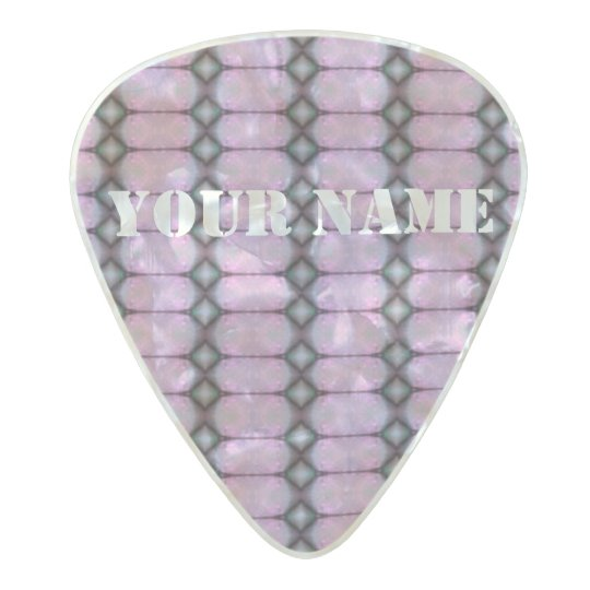 HAMbWG Med. Gauge  .80mm Guitar Picks Deco Violet Pearl Celluloid Guitar Pick