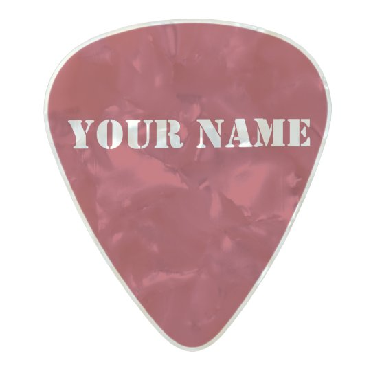 HAMbWG Med. Gauge  .80mm Guitar Picks Red Pearl Celluloid Guitar Pick