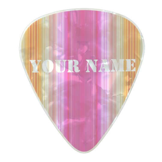 HAMbWG Med. Gauge  .80mm Guitar Pics Pink Spectrum Pearl Celluloid Guitar Pick