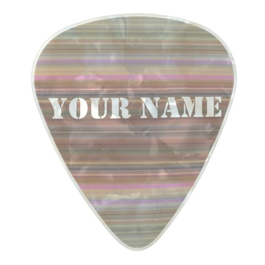 HAMbWG Med. Gauge  .80mm Guitar Pics Spectrum Pearl Celluloid Guitar Pick
