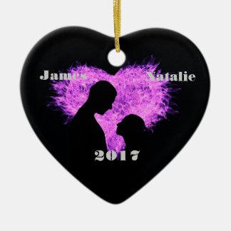 HAMbWG - Ornament - Firey Heart - Personalizable