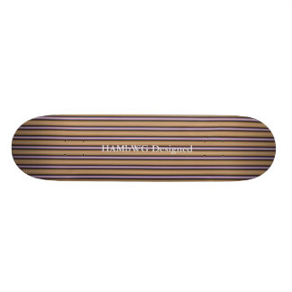 HAMbWG - Skateboard - Violet Gold Color Art Deco