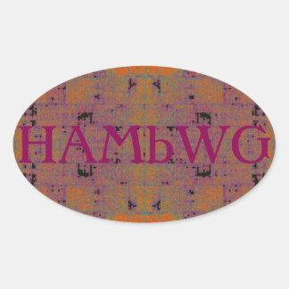 HAMbWG - Sticker - Orange Raspberry  Distressed